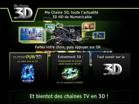 numericable ma chaine 3D