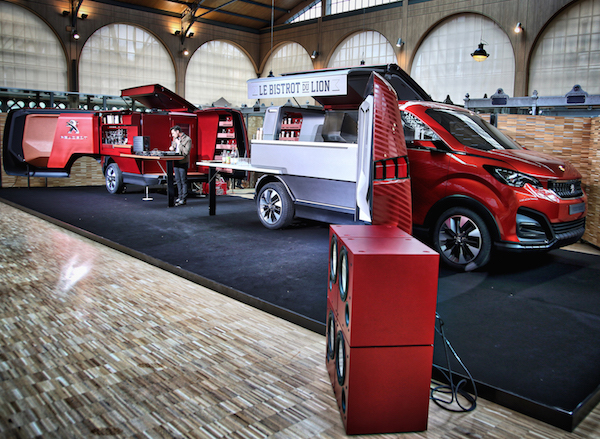 Peugeot Focal foodtruck Le Bistrot du Lion