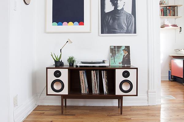 console hifi de department chicago un meuble hifi no rtro pour couter et ranger ses vinyles