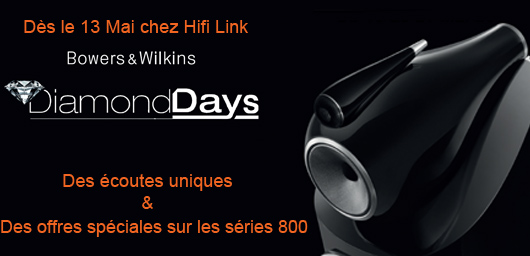 Diamond days Mai 2017 bowers and wilkins hifi link