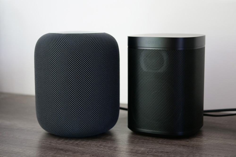 apple homepod sonos one