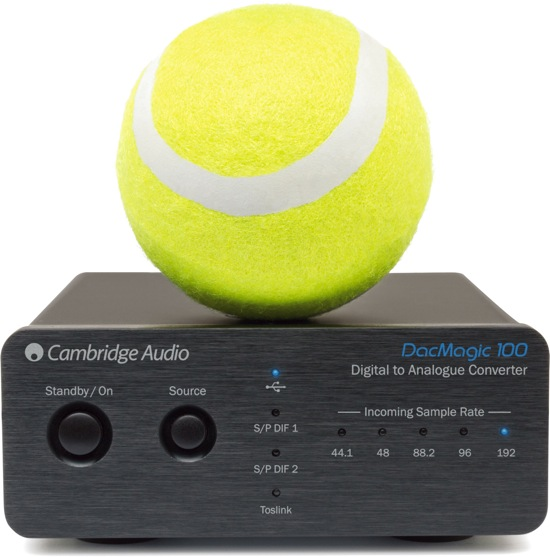 cambridge DacMagic100withtennisball