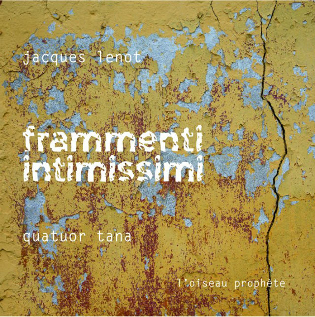 Jacques Lenot Frammenti intimissimi