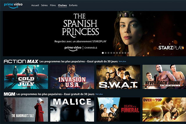 Amazon Prime Video Channels : des contenus hyper ciblés à la carte
