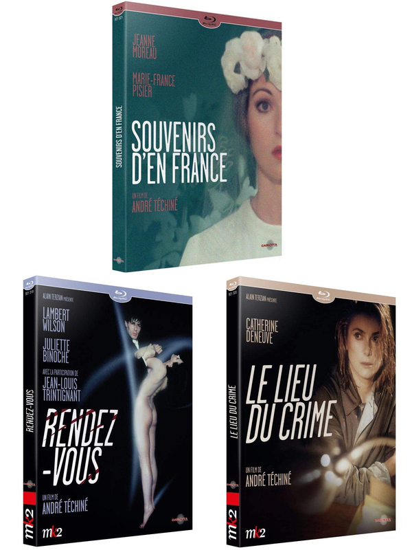 Blu ray 3 Films Andre Techine
