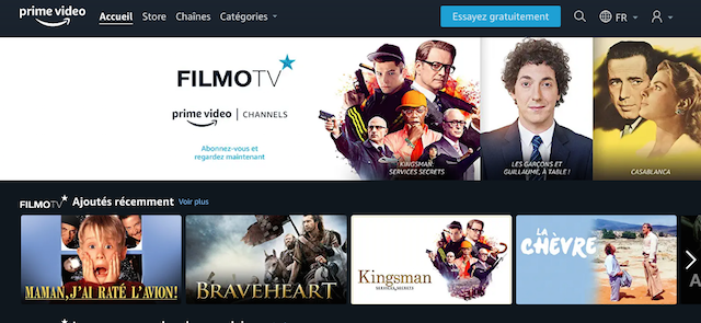 Amazon Prime video channels FilmoTV