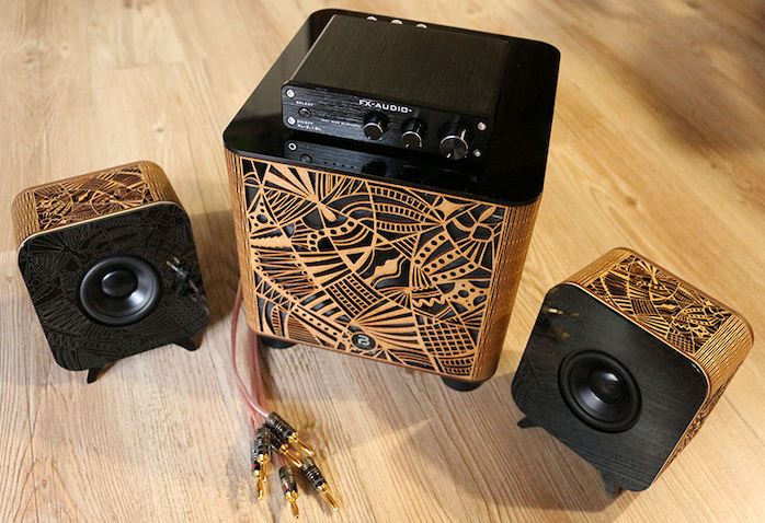 PBSpeakers GM70s enceintes artisanales france finition bois personnalisable ONMag