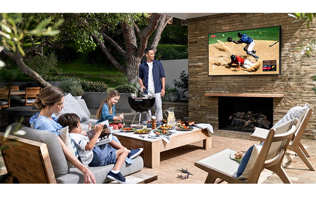 samsung the terrace TV barbecue