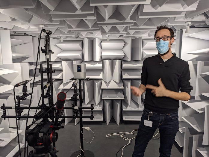 Dxomark Speaker Test in anechoic chamber