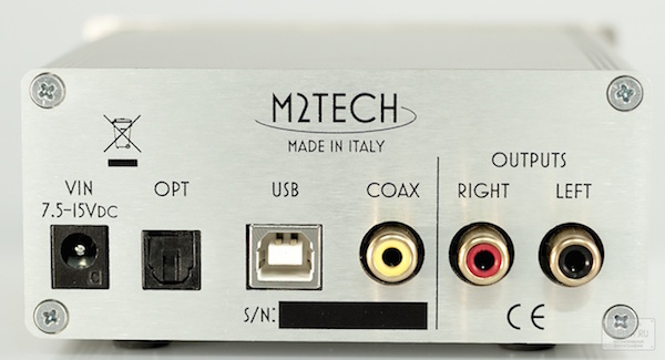 M2Tech Evo DAC Two rear